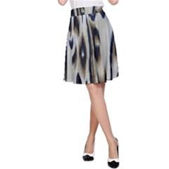 Tiger Background Fabric Animal Motifs A Line Skirt