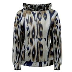 Tiger Background Fabric Animal Motifs Women s Pullover Hoodie