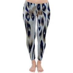 Tiger Background Fabric Animal Motifs Classic Winter Leggings