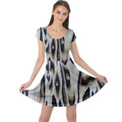 Tiger Background Fabric Animal Motifs Cap Sleeve Dresses