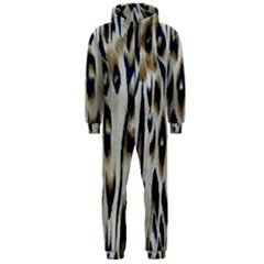 Tiger Background Fabric Animal Motifs Hooded Jumpsuit (men)