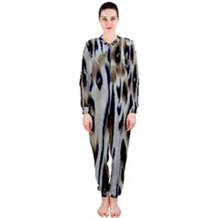 Tiger Background Fabric Animal Motifs Onepiece Jumpsuit (ladies)