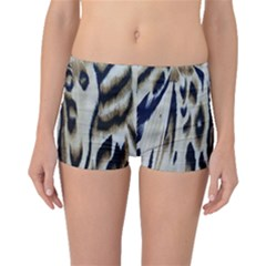 Tiger Background Fabric Animal Motifs Boyleg Bikini Bottoms