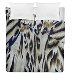 Tiger Background Fabric Animal Motifs Duvet Cover Double Side (queen Size)