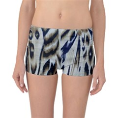 Tiger Background Fabric Animal Motifs Reversible Bikini Bottoms