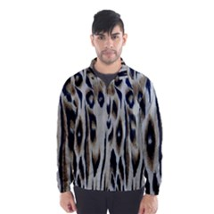 Tiger Background Fabric Animal Motifs Wind Breaker (Men)