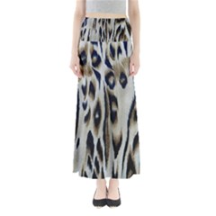 Tiger Background Fabric Animal Motifs Maxi Skirts