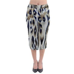 Tiger Background Fabric Animal Motifs Midi Pencil Skirt