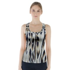 Tiger Background Fabric Animal Motifs Racer Back Sports Top