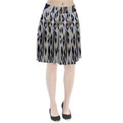 Tiger Background Fabric Animal Motifs Pleated Skirt