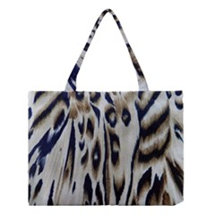 Tiger Background Fabric Animal Motifs Medium Tote Bag