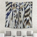 Tiger Background Fabric Animal Motifs Square Tapestry (Large) View2
