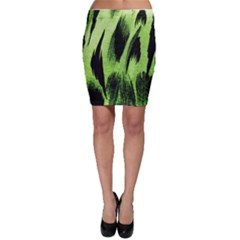 Green Tiger Background Fabric Animal Motifs Bodycon Skirt