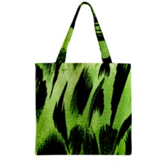 Green Tiger Background Fabric Animal Motifs Grocery Tote Bag