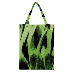 Green Tiger Background Fabric Animal Motifs Classic Tote Bag