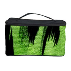 Green Tiger Background Fabric Animal Motifs Cosmetic Storage Case