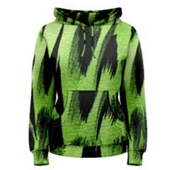 Green Tiger Background Fabric Animal Motifs Women s Pullover Hoodie