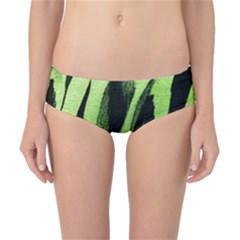 Green Tiger Background Fabric Animal Motifs Classic Bikini Bottoms