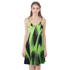 Green Tiger Background Fabric Animal Motifs Camis Nightgown