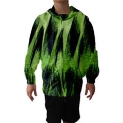 Green Tiger Background Fabric Animal Motifs Hooded Wind Breaker (kids)