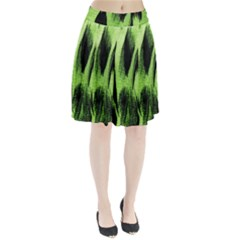 Green Tiger Background Fabric Animal Motifs Pleated Skirt