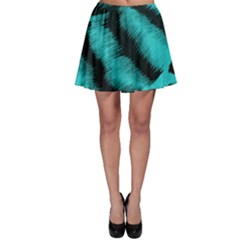 Blue Background Fabric Tiger  Animal Motifs Skater Skirt