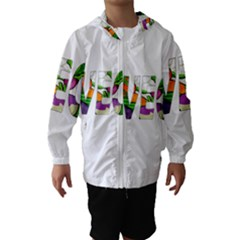 Go vegan Hooded Wind Breaker (Kids)