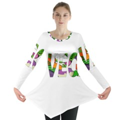 Go vegan Long Sleeve Tunic