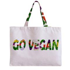 Go vegan Medium Zipper Tote Bag