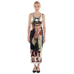 Uncle Sam Fitted Maxi Dress