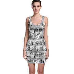 Old comic strip Sleeveless Bodycon Dress