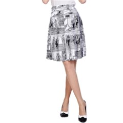 Old comic strip A-Line Skirt
