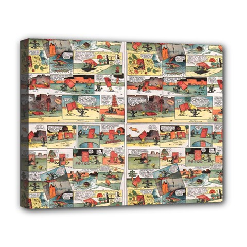 Old comic strip Deluxe Canvas 20  x 16