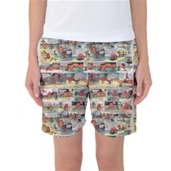 Old comic strip Women s Basketball Shorts