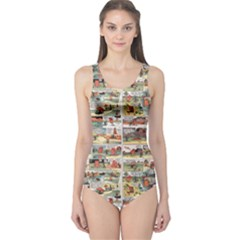 Old comic strip One Piece Swimsuit
