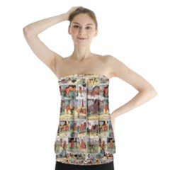 Old comic strip Strapless Top