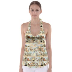 Old Comic Strip Babydoll Tankini Top