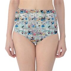 Old comic strip High-Waist Bikini Bottoms