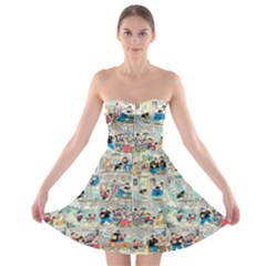 Old comic strip Strapless Bra Top Dress