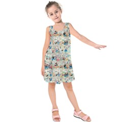 Old comic strip Kids  Sleeveless Dress