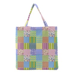 Old Quilt Grocery Tote Bag