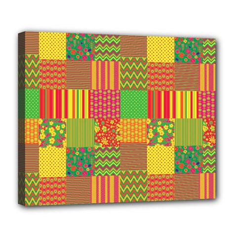 Old Quilt Deluxe Canvas 24  x 20