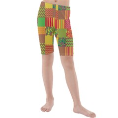 Old Quilt Kids  Mid Length Swim Shorts