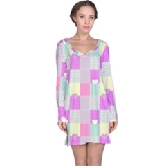 Old Quilt Long Sleeve Nightdress