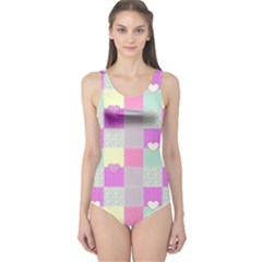 Old Quilt One Piece Swimsuit
