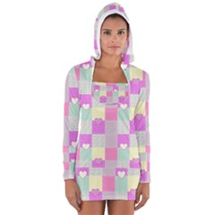 Old Quilt Women s Long Sleeve Hooded T-shirt