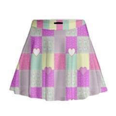 Old Quilt Mini Flare Skirt