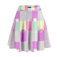 Old Quilt High Waist Skirt