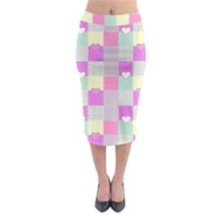 Old Quilt Midi Pencil Skirt
