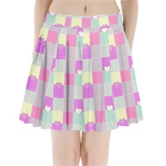 Old Quilt Pleated Mini Skirt